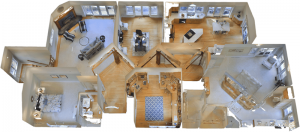 Floor plan dollhouse view